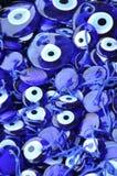 Turkish Evil Eye stone amulets Stock Photography