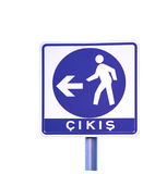 Turkish exit sign Royalty Free Stock Photo