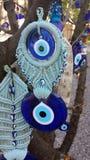 Turkish eye of the prophet. On a tree Stock Photo