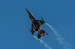 Turkish F-16 Falcon - Soloturk Display Team Stock Image