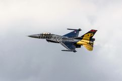 Turkish F-16 Falcon - Soloturk Display Team Royalty Free Stock Photo