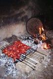 Turkish famous meal sis kebap Royalty Free Stock Photos