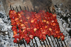 Turkish famous meal sis kebap Stock Photography