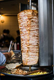 Turkish Fast Food Skewered Chicken doner kebab Royalty Free Stock Photography