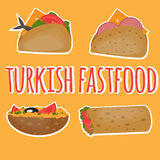 Turkish Fast food, Traditional  street food, Turkish cuisine. Royalty Free Stock Photo
