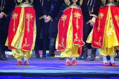 Turkish female dancers bright costumes Stock Photography
