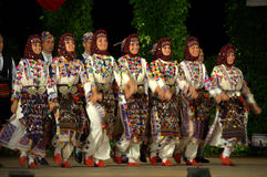 Turkish female traditional dance Royalty Free Stock Photos