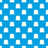 Turkish fez pattern seamless blue. Turkish fez pattern repeat seamless in blue color for any design. Vector geometric illustration Stock Photo