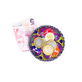 Turkish fine money in pottery bowl Stock Photo