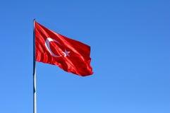 Turkish flag. With a clear blue sky Stock Photos