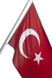 Turkish Flag. THESSALONIKI - GREECE, July,3: Turkish Flag Waving in the wind on July 3, 2012 in Thessaloniki, Greece Stock Photography