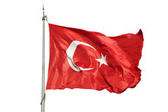 Turkish flag Stock Photo
