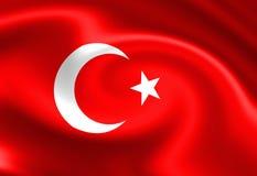 Turkish flag Royalty Free Stock Photography