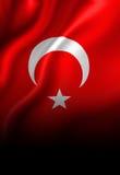 Turkish flag Stock Photography