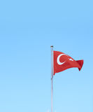 Turkish flag against sky background Stock Photography