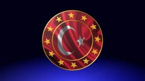 Turkish flag. Best animation flag stock video