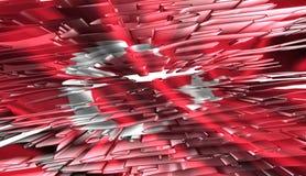 Turkish flag, 3D illustration Stock Photo