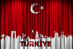 Turkish flag, feast and celebration design promotion Royalty Free Stock Photos
