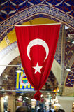 Turkish Flag in Grand Bazar, Istanbul, Turkey flag Royalty Free Stock Photo