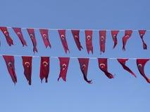Turkish flag hanging Stock Photo