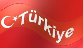 Turkish flag, illustration. Turkish flag,best illustration and background Royalty Free Illustration