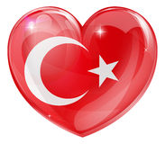Turkish flag love heart Royalty Free Stock Image