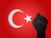 Turkish Flag Protest Sign Royalty Free Stock Image
