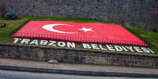 Turkish flag in Trabzon Stock Photo