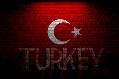 Turkish Flag, Turkey, Flag Design. Turkey Flag, Flag design and presentation study royalty free stock photo