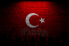 Turkish Flag, Turkey, Flag Design. Turkey Flag, Flag design and presentation study royalty free stock photos