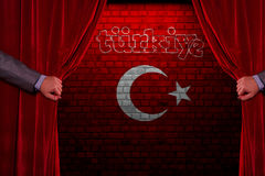 Turkish Flag, Turkey, Flag Design. Turkey Flag, Flag design and presentation study stock image