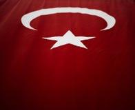 Turkish flag. Royalty Free Stock Photos