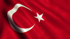 Turkish Flag video animation - 4K. Turkey - Turkish Flag. Seamless Looping Animation. 4K High Definition Video stock footage