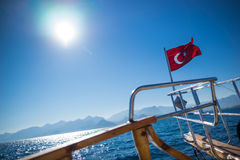 Turkish flag waving Royalty Free Stock Photography
