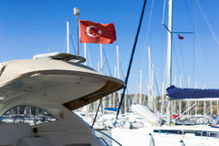 Turkish flag waving Royalty Free Stock Photography
