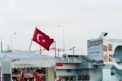 Turkish flag waving Royalty Free Stock Images