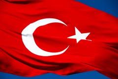 Turkish Flag Royalty Free Stock Photo