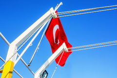 Turkish flag waving in the wind Royalty Free Stock Photos