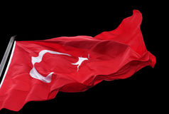 Turkish flag waving in wind Stock Images