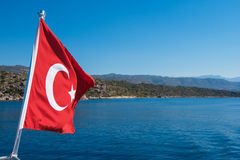 Turkish Flag from yacht Royalty Free Stock Photos