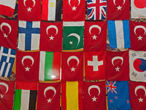 Turkish flags Stock Photos