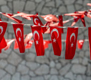 Turkish Flags Decoration Royalty Free Stock Photo