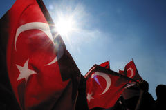 Turkish flags and Nationalism Stock Photography