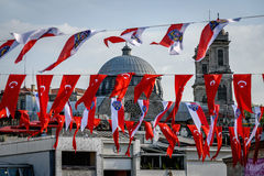 Turkish flags Stock Photography
