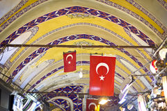 Turkish flags Stock Image