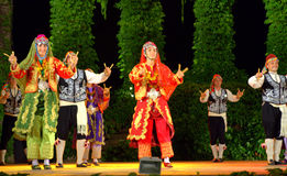 Turkish folk dance spectacle Royalty Free Stock Images