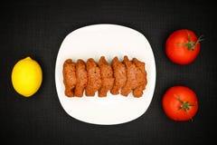 Turkish Food Cig Kofte. Turkish Traditional Food Cig Kofte on the Table stock photos