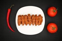 Turkish Food Cig Kofte. Turkish Traditional Food Cig Kofte on the Table royalty free stock photos