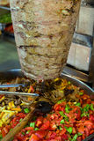 Turkish food Doner Kebab Stock Photo