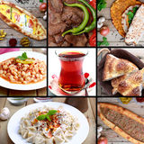 Turkish food images. The famous Turkish food images and famous Turkish tea royalty free stock image